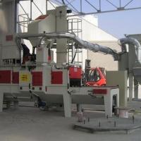 Impianto-di-granigliatura-con-tappeto-in-rete